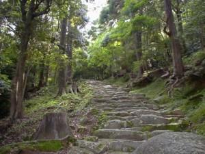 神倉山の石段